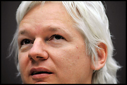 The WikiLeaks founder Julian Assange holds a press conference on Online security and the reopening of the submission system, WikiLeaks  host a press conference which expose's extraordinary privacy threats to journalists, sources and others as well as launching a new phase for WikiLeaks, just over a year after the Cablegate release, Thursday December 1, 2011 Photo by Andrew Parsons/ i-Images