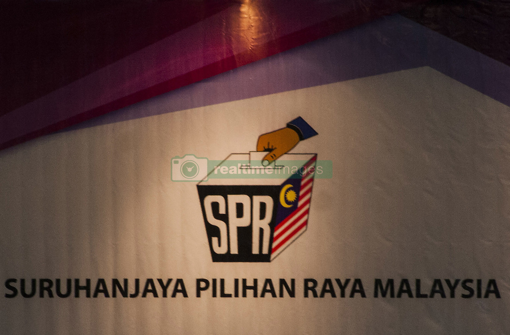 April 28, 2018 - Kuala Lumpur, Selangor, Malaysia - Malaysia Election Commissioner symbol seen at the nomination hall...Malaysia has held a nomination day for the 14th general election on 28th April 2018. President People's Justice Party (PKR) Wan Azizah nominated as the candidate for Pakatan Harapan expected to defend the opposition seat on parliament Pandan (P100) at Kuala Lumpur. She will be challenge by Dato' Leong Kok Wee from Barisan Nasional (BN), Mohamed Sukri Omar from Malaysian Islamic Party (PAS), Jenice Lee from Parti Rakyat Malaysia (PRM) and also from the independent candidate Mohd Khairul Azam. (Credit Image: © Faris Hadziq/SOPA Images via ZUMA Wire)