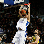 Anadolu Efes's Milko Bjelica (C) during their Turkish BEKO Basketball League derby match Anadolu Efes between Fenerbahce at Abdi ipekci Arena in Istanbul, Turkey, Monday, February 03, 2014. Photo by Aykut AKICI/TURKPIX