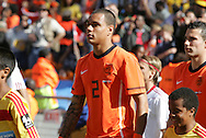 14 JUN 2010: Gregory van der Wiel (NED). The Netherlands National Team defeated the Denmark National Team 2-0 at Soccer City Stadium in Johannesburg, South Africa in a 2010 FIFA World Cup Group E match.