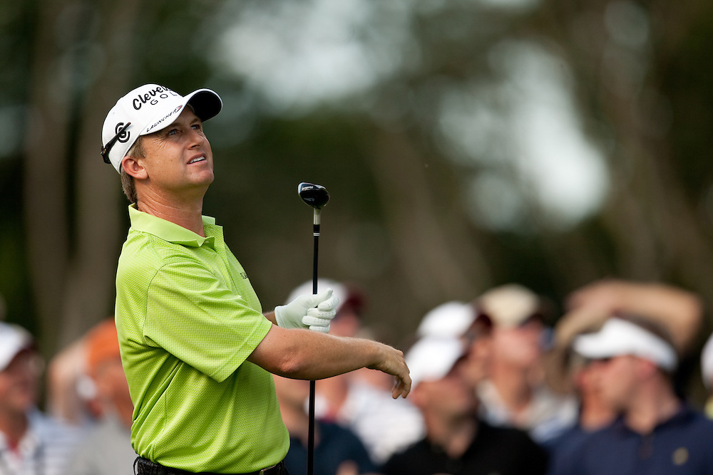 FARMINGDALE, NY - JUNE 19:  David Toms watches his tee shot during the second round of the 109th U.S. Open Championship on the Black Course at Bethpage State Park on Friday, June 19, 2009. (Photograph by Darren Carroll) *** Local Caption *** David Toms