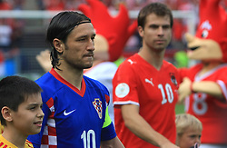 Two number 10, boath captains: Niko Kovac of Croatia and Andreas Ivanschitz of Austria before  the UEFA EURO 2008 Group B soccer match between Austria and Croatia at Ernst-Happel Stadium, on June 8,2008, in Vienna, Austria.  (Photo by Vid Ponikvar / Sportal Images)