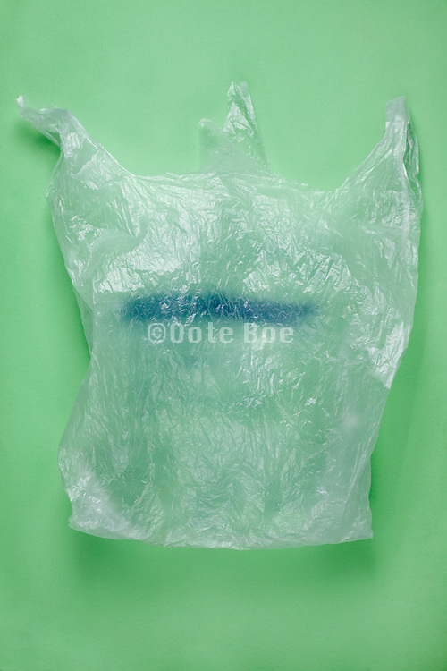 a one time use plastic supermarket shopping bag
