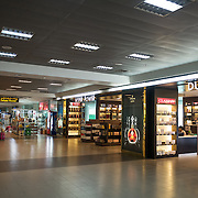 Duty Free and other retail shops in the terminal of Mandalay International Airport, Myanmar (Burma).