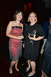 Left to right, JOSEPHINE CHANTER and SARAH MANN at a dinner at The Bulgari Hotel, 171 Knightsbridge to celebrate The London Design Festival on 13th September 2016.