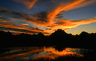 OxBow Bend and Mount Moran in Grand Teton National Park in Jackson, WY.  ©Brett Wilhelm