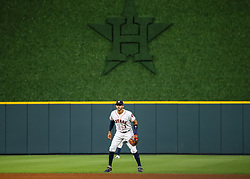 April 30, 2018 - Houston, TX, U.S. - HOUSTON, TX - APRIL 30:  Houston Astros shortstop Carlos Correa (1) watches the pitch during the baseball game between the New York Yankees and Houston Astros on April 30, 2018 at Minute Maid Park in Houston, Texas.  (Photo by Leslie Plaza Johnson/Icon Sportswire) (Credit Image: © Leslie Plaza Johnson/Icon SMI via ZUMA Press)