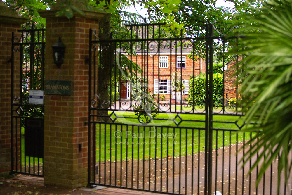 Alan Sugar's mansion in Chigwell, Essex. Lord Sugar elicited widespread condemnation for a tweet about the Senegal football team where he compared them to Marbella beach hawkers. Chigwell, Essex, June 20 2018.