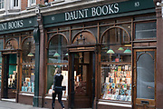 Exterior of Daunt Books on the 27th September 2019 in London in the United Kingdom.