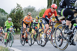 Romy Kasper climbs out of the saddle on the longest climb of the day - 2016 Strade Bianche - Elite Women, a 121km road race from Siena to Piazza del Campo on March 5, 2016 in Tuscany, Italy.