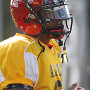 Quarterback Braxton Miller during the practice session at the Walt Disney Wide World of Sports Complex in preparation for the Under Armour All-America high school football game on December 3, 2011 in Lake Buena Vista, Florida. (AP Photo/Alex Menendez)