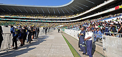 (Mourners). Special Official Funeral service for the late Winnie Madikizela-Mandela at Orlando Stadium in Soweto, Gauteng Province. South Africa. 14/04/2018. Siyabulela Duda