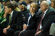WACO, TX - DECEMBER 9: Baylor President Ken Starr (right) looks on as the Baylor Bears host the Texas A&M Aggies on December 9, 2014 at the Ferrell Center in Waco, Texas.  (Photo by Cooper Neill/Getty Images) *** Local Caption *** Ken Starr