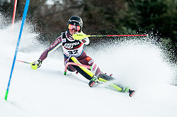 "Ylva Staalnacke (SWE) competes during 1st Run of FIS Alpine Ski World Cup 2017/18 Ladies' Slalom race named ""Snow Queen Trophy 2018"", on January 3, 2018 in Course Crveni Spust at Sljeme hill, Zagreb, Croatia. Photo by Vid Ponikvar / Sportida"