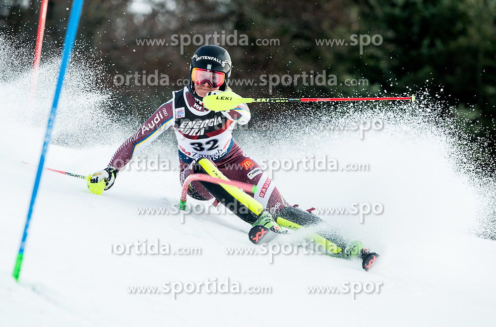 """Ylva Staalnacke (SWE) competes during 1st Run of FIS Alpine Ski World Cup 2017/18 Ladies' Slalom race named """"Snow Queen Trophy 2018"""", on January 3, 2018 in Course Crveni Spust at Sljeme hill, Zagreb, Croatia. Photo by Vid Ponikvar / Sportida"""