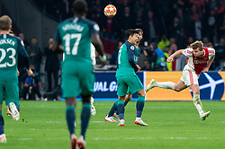 08-05-2019 NED: Semi Final Champions League AFC Ajax - Tottenham Hotspur, Amsterdam<br /> After a dramatic ending, Ajax has not been able to reach the final of the Champions League. In the final second Tottenham Hotspur scored 3-2 / Matthijs de Ligt #4 of Ajax, Son Heung-Min #7 of Tottenham Hotspur