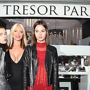 Caprice Bourret , Bloom Twins arrives at Tresor Paris In2ruders - launch at Tresor Paris, 7 Greville Street, Hatton Garden, London, UK 13th September 2018.