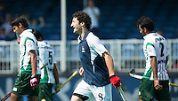 ANTWERP -    Simon Martin Brisac (m) has scored 1-0 for France and celebrates during  the hockeymatch   for  place 7th and 8th Pakistan vs France.  WSP COPYRIGHT KOEN SUYK