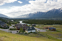 Luxury home developments near Canmore in the Bow River valley