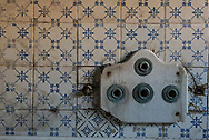 Terme del Corallo or Acque della salute. Detail of a bathtub in the area of the underground thermal baths