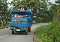 Truck on a mountain road south of Dili, Timor-Leste (East Timor)