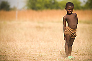 Young girl standingNorthern Ghana, Wednesday November 12, 2008.