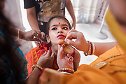 """Adu (5.6yrs) another girl is not at all interested  to become the """"Kumari"""" but somehow she was selected to be worshipped for the year."""