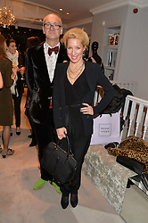 PATRICK COUDERC CEO Herve Leger UK and PRINCESS VALERIO MASSIMO at a party at Herve Leger, Lowndes Street, London on 12th November 2014 to view the latest collection.