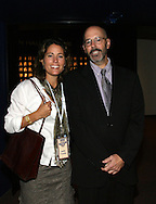 28 August 2006: Retired U.S. Women's National Team star Julie Foudy (l) with Hall of Fame president Will Lunn. The National Soccer Hall of Fame Induction Ceremony was held at the National Soccer Hall of Fame in Oneonta, New York.