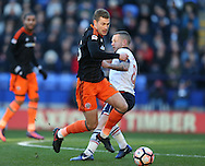 Paul Coutts of Sheffield Utd evades Jay Spearing of Bolton during the FA Cup Second round match at the Macron Stadium, Bolton. Picture date: December 4th, 2016. Pic Simon Bellis/Sportimage