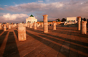 MOROCCO, RABAT The capital; Mausoleum of Mohammed V, father of King Hassin II, and columns of Hassan's mosque