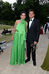ADITYA & MEGHA MITTAL at The Animal Ball in aid of The Elephant Family held at Lancaster House, London on 9th July 2013.