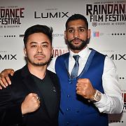 British Asain Boxer Amir Khan and fan attend World Premiere of Team Khan - Raindance Film Festival 2018 at Vue Cinemas - Piccadilly, London, UK. 29 September 2018.