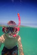 Boy, Snorkeling, Hawaii