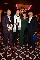 Left to right, AA GILL, ED VICTOR, CAROL VICTOR and NICK ALLOTT at a party to celebrate the publication of 'Passion for Life' by Joan Collins held at No41 The Westbury Hotel, Mayfair, London on21st October 2013.