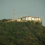 High on a hill, Convento de la Popa overlooks, Cartagena de Indias, Bolivar, Colombia.