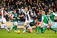 Cammy Smith of St Mirren wins the ball during the Ladbrokes Scottish Premiership match between St Mirren and Hibernian at the Simple Digital Arena, Paisley, Scotland on 29th September 2018.