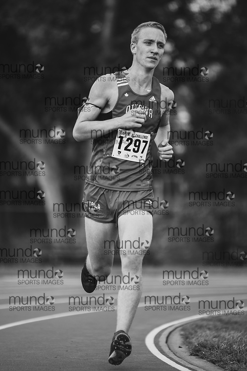 OTTAWA - October 3, 2020: Nicholas Pedersen competing at Capital XC held at the Mooney's Bay Park and Terry Fox Athletic Facility.