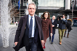 © Licensed to London News Pictures. 10/12/2018. London, UK. OWEN PATERSON MP and THERESA VILLIERS MP leave a Conservative Friends of Israel event in central London. Mrs May is expected to call off tomorrows withdrawal agreement vote when she speaks in the House of Commons later. Photo credit: Ben Cawthra/LNP