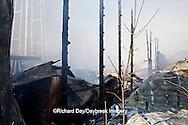 63818-02311 Firefighters extinguishing warehouse fire, Salem, IL