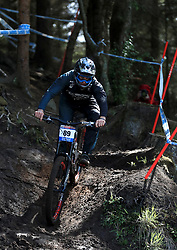 Dean Lucas of Intense Facctory Racing during day one of the 2017 UCI Mountain Bike World Cup at Fort William. PRESS ASSOCIATION Photo. Picture date: Saturday June 3, 2017. Photo credit should read: Tim Goode/PA Wire. RESTRICTIONS: Editorial use only, no commercial use without prior permission