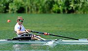 Lucerne, Switzerland. GBR  M1X Alan CAMPBELL Silver Medalist, Men's Single Sculls. 2010 FISA World Cup. Lake Rotsee, Lucerne.  13:42:05   Sunday  11/07/2010.  [Mandatory Credit Peter Spurrier/ Intersport Images]
