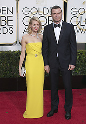 Jan. 11, 2015 - Beverly Hills, California, U.S - Naomi Watts and Liev Schreiber on the red carpet of the 72nd Golden Globe Awards  held at the Hilton Hotel in Beverly Hills, California on  Sunday January 11, 2015. (Credit Image: © Prensa Internacional/ZUMA Wire)