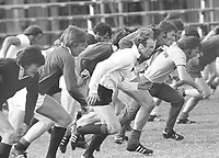 Rugby Union - 1974  British Lions Tour of South Africa<br /> <br /> Mike Gibson and Andy Ripley - British Lions lead the line in training