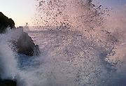 Crashing Wave on Rocks at McClures Beach, Point Reyes National Seashore, California