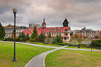 The academy at St Ann's in Victoria, BC., built in 1858, has been restored to its former glory and features six acres of gardens, a chapel, and beautiful space.