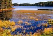 Huronian Lake in autumn<br /> Quetico Provincial Park<br /> Ontario<br /> Canada