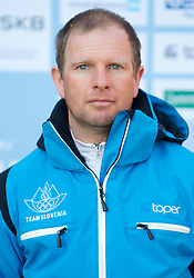 Coach Ales Rogelj, Alpine Ski team at Official photo of  Slovenia team for  European Youth Olympic Festival (EYOF) in Liberec (CZE) at official presentation, on February  9, 2011 at Bled Castle, Slovenia. (Photo By Vid Ponikvar / Sportida.com)