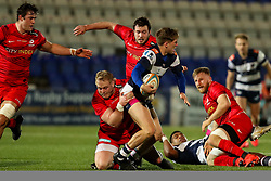 Louis Brown of Coventry Rugby is tackled by Vincent Koch of Saracens  - Mandatory by-line: Nick Browning/JMP - 26/02/2021 - RUGBY - Butts Park Arena - Coventry, England - Coventry Rugby v Saracens - Friendly