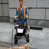Bohemian woman with Garbor stroller;<br />